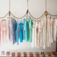 Cool DIY Hanging Clothing Rack