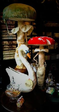 Mister Finch Swan and Toadstool Spirits at The Imaginarium in York