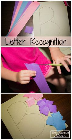 Simple letter craft and tons of other simple crafts on this blog. Repinned by SOS Inc. Resources pinterest.com/sostherapy/.