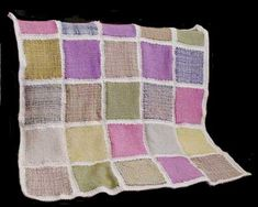 """Free Weaving Pattern: Country Style Afghan made on an 8"""" square bias loom"""