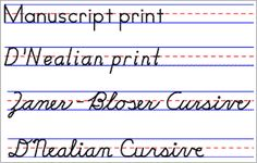 Handwriting practice printable sheets