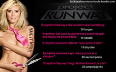 Movie workouts - project runway