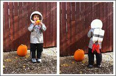DIY Halloween costume for kids - Astronaut