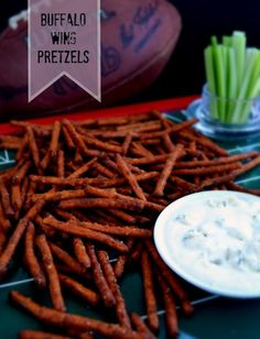 buffalo wing pretzels. So easy!! Definitely doing this!