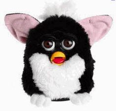 The Popular electronic Furby robotic toy From The 1990s....what items cost in the 90's 1990's toys, 90s kid, creepi toy, 1990s toys, blast, 90s awesom, 90s nostalgia, childhood, 90s babi
