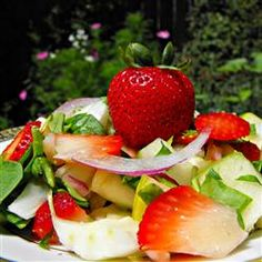 Spring Strawberry Spinach Salad Allrecipes.com