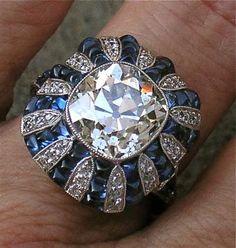 Art deco vintage engagement ring