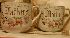 Mother father matching Mugs.  $9.00 !!