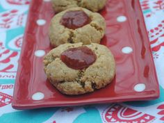 Peanut Butter & Jam Thumbprints
