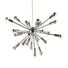 Silver Sputnik Chandelier   dotandbo.com