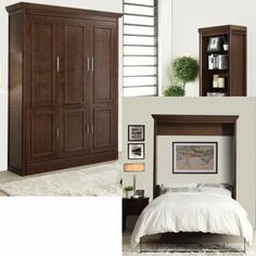 Coventry Queen Wall Bed with Side Cabinet  $2149.99