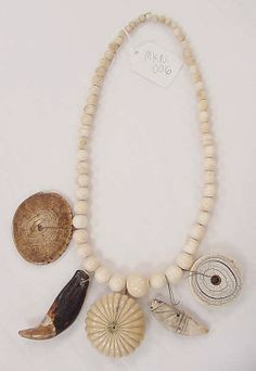 Necklace, Japan, late 20th century, cotton, ivory