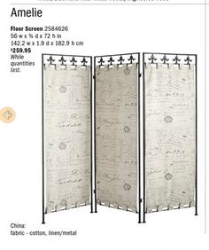 Fabric Room Dividers On Pinterest Room Divider Curtain
