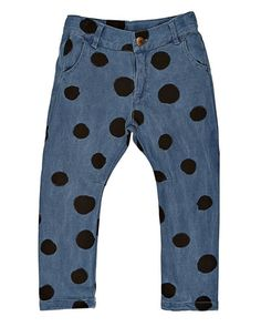 Bobo Choses Fleece trousers dots – Bukser – Denim