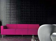 black wallpaper wall coverings