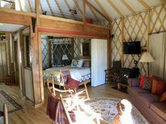 yurt with interior walls