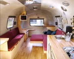 Silver Stage Airstream Interior by Silver Stage