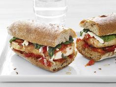 Tofu Parmesan Subs from FoodNetwork.com