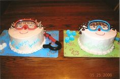 Swimming cake for brothers