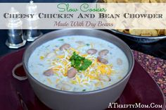 Cheesey Chicken and Bean Chowder, made in the slow cooker with dry Hurst Ham Been  Beans. jpg