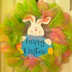 Easter mesh wreath
