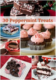 Who loves peppermint? I do! I've rounded up 30 Peppermint Treats to help inspire you! Visit mealplanningmagic.com for recipe links!