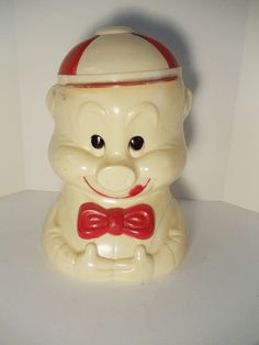 1940s Celluloid Porky Pig Cookie Jar