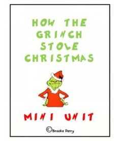 unit more holiday classroom fun christmas grinch activities grinch ...