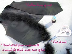 marabou-feather-vest-DIY-3 by ...love Maegan, via Flickr