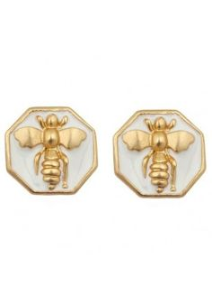 Bee-utiful, the Bumble Bee earrings in pink, white, black, blue, green and navy! #SwellCaroline #Bee #Preppy