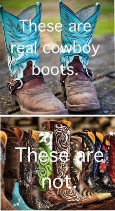 ;). Real Vs fake cowboy.  #country girl
