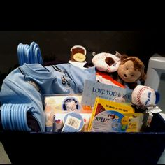Baby Shower little boy basket