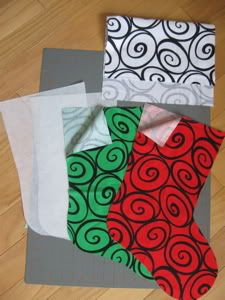 A tie dye Diva pattern for fabric Christmas stockings-very easy to follow!