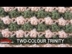 Two-color Trinity stitch