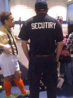 "Quick, call ""secutiry!"""