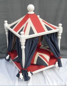 I FOUND HER NEW BED!!!! Union Jack - Denim Pagoda Bed - Beds, Blankets & Furniture - Furniture Style Beds Posh Puppy Boutique