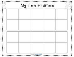 tens frames to print
