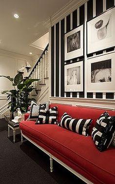 Bold striped walls