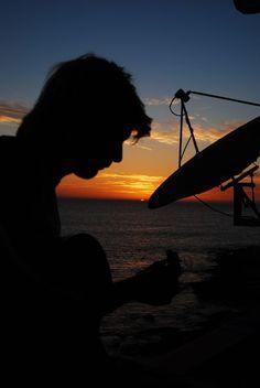 Keith Harkin sunset silhouette