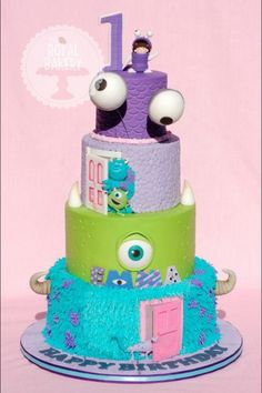 Amazing Monsters Inc. cake by Sugar High on Facebook