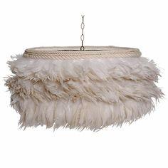 Feather Drum Chandelier