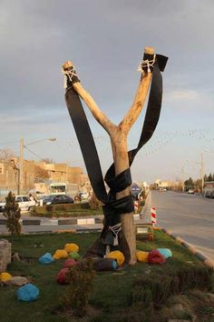 Symbolic Persian New Year Display in the city of Mashhad
