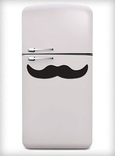 way cool fridge, but c'mon the mustache magnet takes the cake.