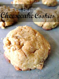 Peanut Butter Cheesecake Cookies.....These cookies use cream cheese instead of butter, adding a thicker, smoother texture!!