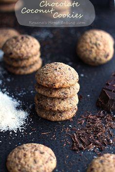 Chocolate Coconut Cookies #chocolate #coconut #recipe