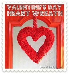Valentine's Day Felt Heart Wreath Tutorial - EverythingEtsy.com