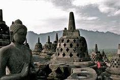 Buddha Stupa at Borobudur Temple, Indonesia