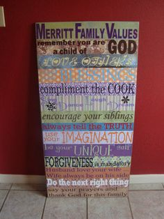 Family Values Sign