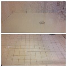 Used Bar Keeper's Friend powder to clean the hard water stains from my shower doors. Top is untreated, bottom is treated.