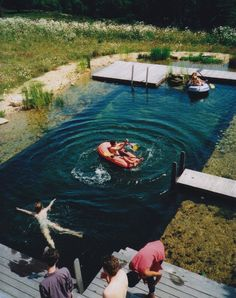 Natural swimming pools.